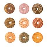 Γλυκό επιδόρπιο τροφίμων donuts Στοκ εικόνες με δικαίωμα ελεύθερης χρήσης