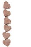 γλυκό καρδιών πλαισίων στοκ φωτογραφία με δικαίωμα ελεύθερης χρήσης