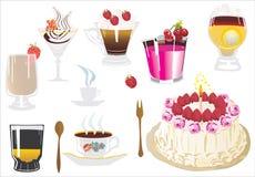 γλυκό κοκτέιλ κέικ απεικόνιση αποθεμάτων