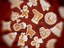γλυκό μελοψωμάτων Χριστ&omic Στοκ φωτογραφίες με δικαίωμα ελεύθερης χρήσης