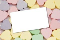 γλυκό μηνυμάτων καρδιών Στοκ φωτογραφία με δικαίωμα ελεύθερης χρήσης