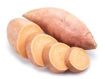 γλυκό πατατών η ανασκόπηση απομόνωσε το λευκό Στοκ εικόνες με δικαίωμα ελεύθερης χρήσης