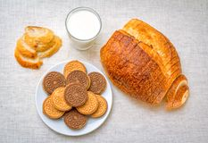 Γλυκό πρόχειρο φαγητό ή πρόγευμα Στοκ Εικόνες