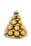 γλυκό πυραμίδων σοκολάτ&a Στοκ Εικόνες