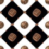Γλυκό ρομαντικό σχέδιο με τις σοκολάτες και το διαμάντι διανυσματική απεικόνιση