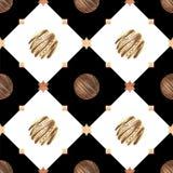 Γλυκό ρομαντικό σχέδιο με τις σοκολάτες και το διαμάντι ελεύθερη απεικόνιση δικαιώματος