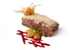 γλυκό σοκολάτας κέικ μούρων Στοκ φωτογραφία με δικαίωμα ελεύθερης χρήσης