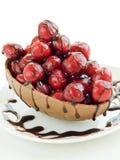 γλυκό σοκολάτας κερασ Στοκ Φωτογραφίες