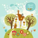 Γλυκό σπίτι 'Οικωών διανυσματική απεικόνιση