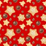 Γλυκό σχέδιο Χριστουγέννων με τις σοκολάτες και τα μελοψώματα διανυσματική απεικόνιση