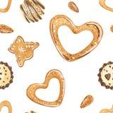 Γλυκό σχέδιο Χριστουγέννων με τις σοκολάτες και τα μπισκότα ζάχαρης ελεύθερη απεικόνιση δικαιώματος