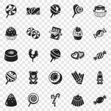 Γλυκό σύνολο εικονιδίων καραμελών, απλό ύφος διανυσματική απεικόνιση
