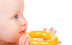 γλυκό χαμόγελου μωρών Στοκ Φωτογραφίες