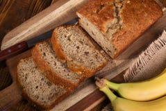 Γλυκό ψωμί καρυδιών μπανανών Στοκ Εικόνες