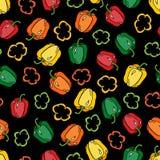 Γλυκό ύφος κινούμενων σχεδίων πιπεριών doodles διανυσματική απεικόνιση