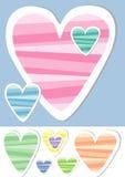 γλυκό διάνυσμα καρδιών Στοκ εικόνα με δικαίωμα ελεύθερης χρήσης
