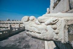 Γλυπτά στην απαγορευμένη πόλη, Πεκίνο, Κίνα Στοκ φωτογραφία με δικαίωμα ελεύθερης χρήσης