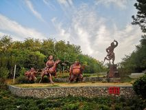 γλυπτά των τεσσάρων Θεών του μοναχού του Tang στοκ εικόνες με δικαίωμα ελεύθερης χρήσης