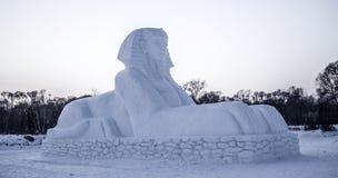 Γλυπτά χιονιού στο φεστιβάλ πάγου και χιονιού του Χάρμπιν στο Χάρμπιν Κίνα Στοκ Εικόνες