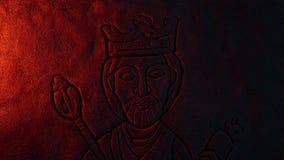 Γλυπτική του βασιλιά Firelight στο ζουμ έξω φιλμ μικρού μήκους