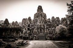 Γλυπτική του ναού Bayon σε Angkor στην Καμπότζη Στοκ εικόνα με δικαίωμα ελεύθερης χρήσης