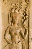 Γλυπτική χορευτών Apsara, Angkor Wat Στοκ Εικόνες