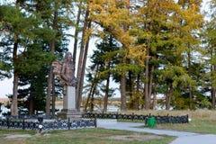 Γλυπτικό μνημείο στον πρίγκηπα Αλέξανδρος Menshikov σε Berezovo Στοκ Εικόνες