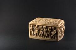 Γλυπτός αρχαίος ρωμαϊκός μαρμάρινος τάφος Στοκ Φωτογραφία