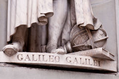 γλυπτό Γαλιλαίου λεπτ&omicr Στοκ Εικόνες