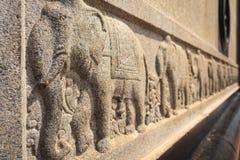 Γλυπτό ελεφάντων στο μνημείο βράχου Vivekananda, Kanyakumari Στοκ Εικόνα