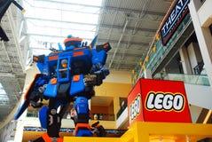 Γλυπτό καταστημάτων Lego στοκ φωτογραφίες