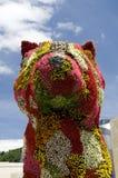 γλυπτό κουταβιών λουλ&omicr Στοκ Φωτογραφία