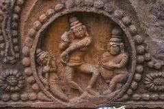 Γλυπτό Λόρδου Shiva Dance Ναοί Mahakuta, Badami, Karnataka στοκ εικόνες