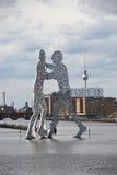 γλυπτό μορίων ατόμων του Β&epsi Στοκ Εικόνες