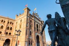 Γλυπτό μπροστά από το χώρο Plaza de Toros de Las Ventas ταυρομαχίας στη Μαδρίτη, Ισπανία Στοκ εικόνα με δικαίωμα ελεύθερης χρήσης