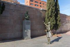 Γλυπτό μπροστά από Las Ventas Bullring Plaza de Toros de Las Ventas στην πόλη της Μαδρίτης, SPA Στοκ Εικόνες