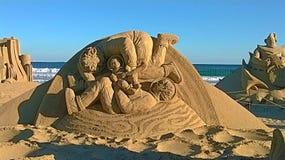 Γλυπτό στην άμμο στοκ φωτογραφία με δικαίωμα ελεύθερης χρήσης
