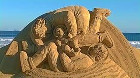 Γλυπτό στην άμμο στοκ εικόνα
