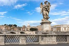 Γλυπτό στις γέφυρες Aelius, Ρώμη, Ιταλία γεφυρών στοκ εικόνες