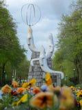 Γλυπτό σφραγίδων στο Silesian πάρκο στοκ εικόνες