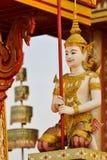 γλυπτό Ταϊλανδός αγγέλου Στοκ Φωτογραφίες