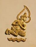 γλυπτό Ταϊλανδός αγγέλο&upsilo Στοκ εικόνες με δικαίωμα ελεύθερης χρήσης
