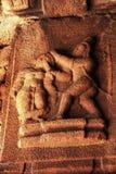 Γλυπτό της τέμνουσας μύτης Λόρδου Lakshman Shurpanakha στο ναό Vittala, Hampi, Karnataka, Ιν στοκ φωτογραφίες με δικαίωμα ελεύθερης χρήσης