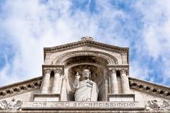 γλυπτό του Ιησού Παρίσι coeur καθεδρικών ναών sacre Στοκ φωτογραφία με δικαίωμα ελεύθερης χρήσης