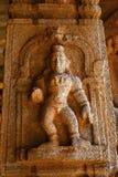 Γλυπτό του Λόρδου Krishna στο ναό Vittala, Hampi, Karnataka, Ινδία στοκ εικόνες