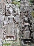 Γλυπτό Apsara Bayon στο ναό, Καμπότζη Στοκ φωτογραφία με δικαίωμα ελεύθερης χρήσης