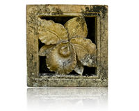 γλυπτό plumeria λουλουδιών Στοκ φωτογραφίες με δικαίωμα ελεύθερης χρήσης