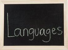 γλώσσες χαρτονιών Στοκ εικόνα με δικαίωμα ελεύθερης χρήσης