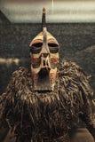 Γνήσια αφρικανική φωτογραφία κινηματογραφήσεων σε πρώτο πλάνο μασκών Στοκ Εικόνα