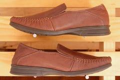 γνήσια παπούτσια δέρματος Στοκ Εικόνα